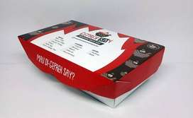 Custom Paper Lunch Box Size M dan L