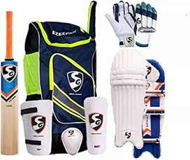 Cricket kit bag bat pad helmet etc