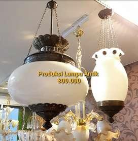 Lampu Kuningan Asli Gantung Antik Klasik Hias Joglo Gebyok