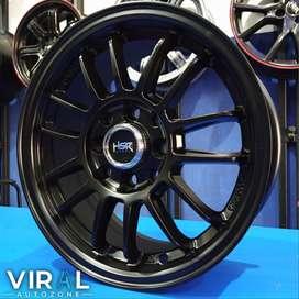 Velg Racing R14 Pelak mobil Brio Avanza Pelek HSR Terbaru Ring 14