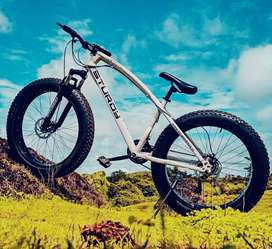 X-TREX Fat Tyre Cycle with 21 Speed Gears: Mountain Bike 26T