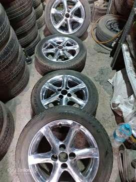 Original 15 Toyota Alloy wheel Suitable in Swift Etios I20 verna Etc