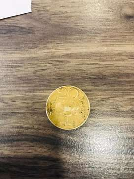 20 paise Old coin 1968 Lotus