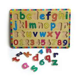 Ready buku kayu huruf angka dan arab