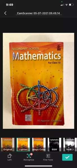 Class 10 mathematics RS Aggarwal cbse