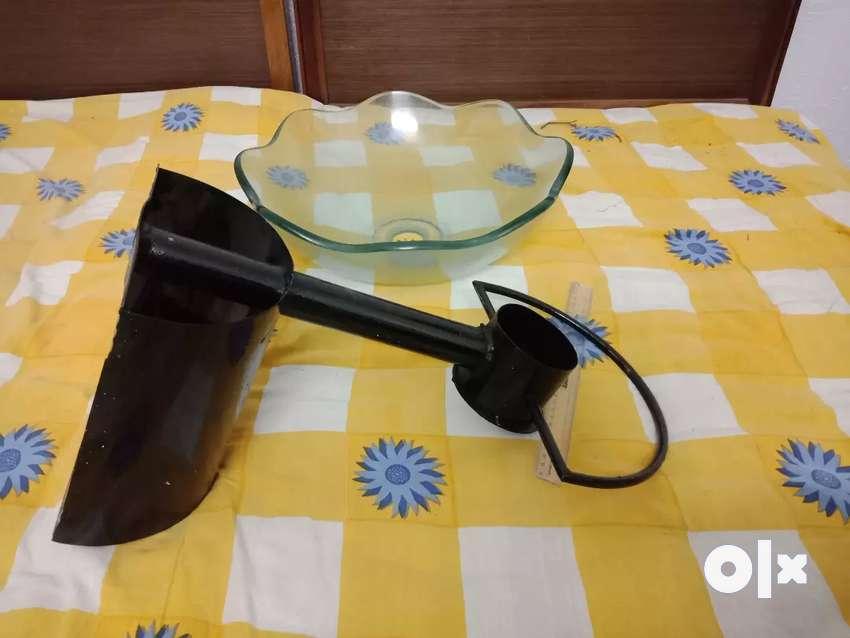 Wash basin glass