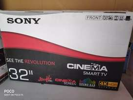 Sony 32inch led 4k smart plus android box pack