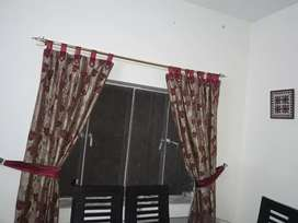 printed curtains with side loops