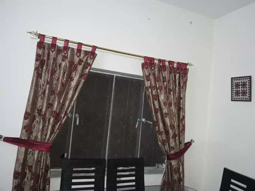 printed curtains with side loops 0