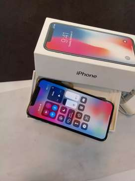 APPLE IPHONE X 266GB GREY COLOR GOOD CONDITION WITH WARRANTY