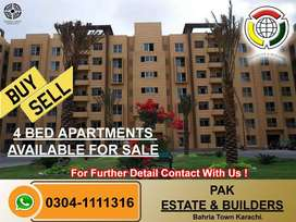 4 Bedroom Apartments For Sale In Bahria Town Karachi