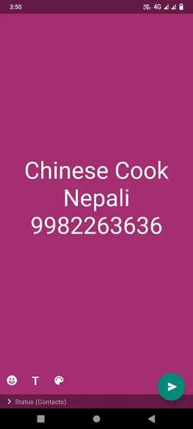 Chinese food ke liye nepali cook ki juraurt hai...