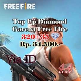 TOP UP GARENA FREE FIRE 320 DM