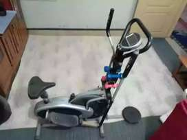 Exercise cycle machine mannual 4 in 1 Elliptical with twister  dumbles