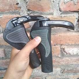 Handgrip handpad pipih sepeda model tanduk lock