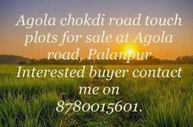Agola chokdi Road touch plots for sale
