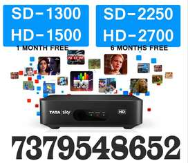 TATA SKY SALE NEW TATASKY HD SD DTH BOX Installation 4 hrs Airtel Dish