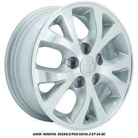 Velg Mobil AMW Innova R15x6.0 PCD 5x114,3 ET 45 SC  Landrover Mazda5