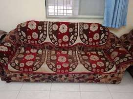 Sofa with 2 chair and one 3 sitter