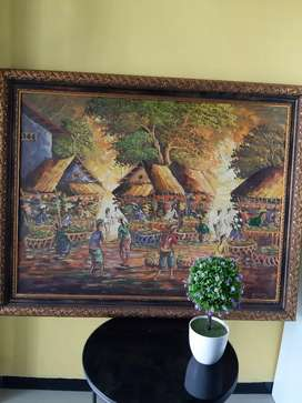 Lukisan pasar khas UBud Bali