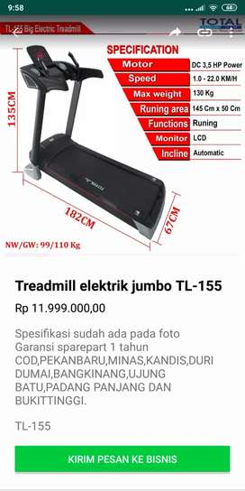 Promo Treadmill termurah terlengkap bergaransi