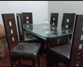 New unsed  sheesham wood dinning table with 6 chairs