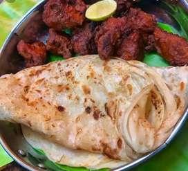 Parota and chicken snacks master