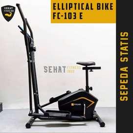 Sepeda Olahraga Eleptical Bike | Sepeda Statis Bisa COD Termasuk Rakit