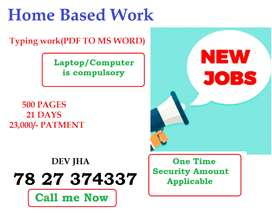 3rd week work plan available. Minimum 23000/- income. Part time work o