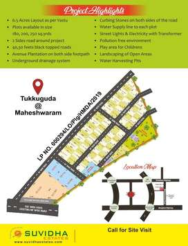 At Maheshwaram HMDA open plots for sale