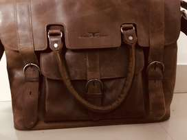 Urban Forest leather laptop bag