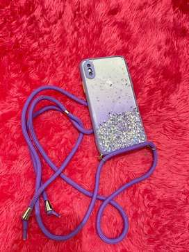 Case strap Iphone X lilac