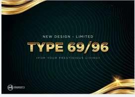 HUNIAN New Design\ 2 Lantai free kanopi & AC Lokasi hertasning baru
