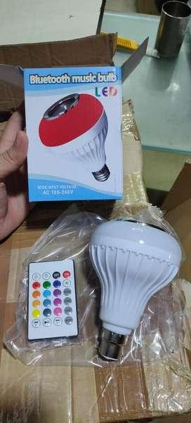 Smart music bulb with inbuilt speaker