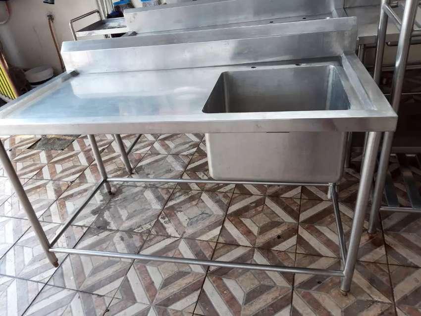 Sink stainless 304 / cuci piring peralatan dapur cafe & resto 0