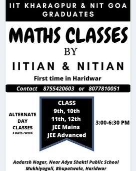 Class 11/12/ IIT JEE Maths Classes