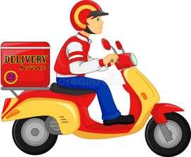 Hiring delivery boy ( Lucknow, Nadarganj ,TP Nagar )