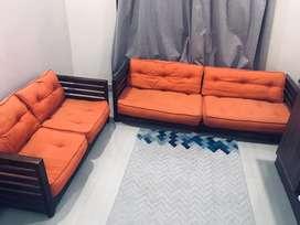 Urban Ladder Low Wooden Sofa set (3+2 Seater)
