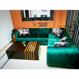 6 seater corner sofa L shape. Grey/brown color also available.