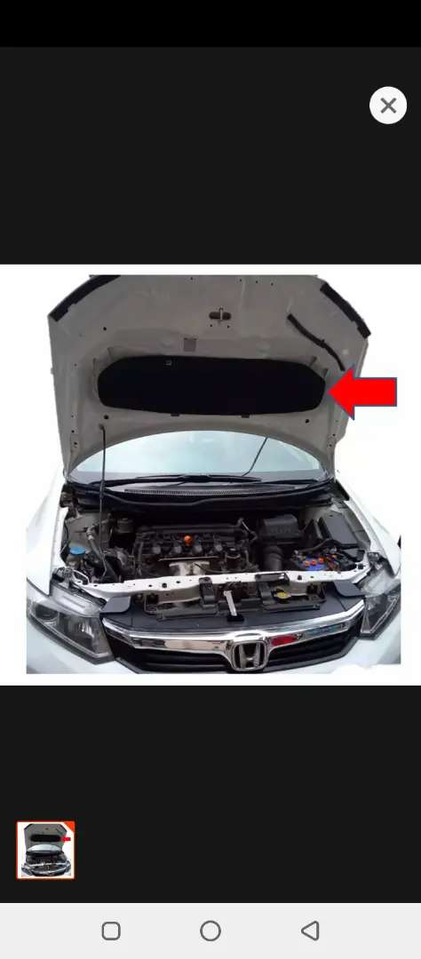 Honda Civic 2013~16 rebirth bonnet insulator for heat and sound proof