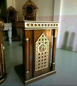 Mimbar masjid mimbar ukir