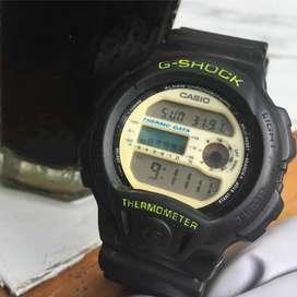 Jam tangan casio g shock dw 6100 thermometer gundam vintage jadul rare