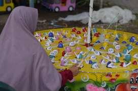 Wahana mainan anak pancingan elektrik Parittiga, Bangka Barat Kab., Ba