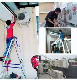 Layanan Jasa Service Cuci  Bongkar Pasang AC Isi Freon Bandar Lampung