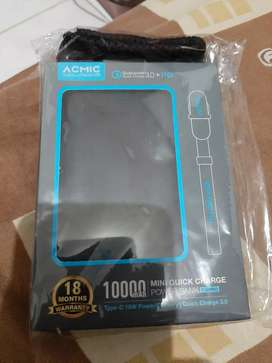 acmic p10 pro powerbank 10.000rb mah type c