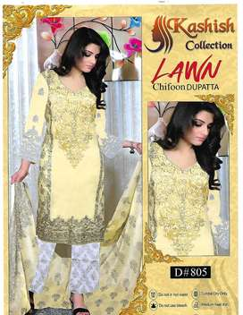 ladies new collection lawn three piece 80/80 for wholesale