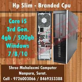 Core i5 - 3rd Gen. / 4gb Ram  / 500gb HDD / Windows 7/8/10