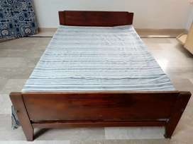 Single Bed. Pure Wooden Bed.