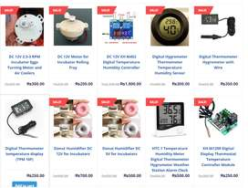Incubator Parts, thermostate, humidifer, hygrometer, motor, timer etc