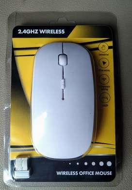 Mouse Wireless Putih New Baru